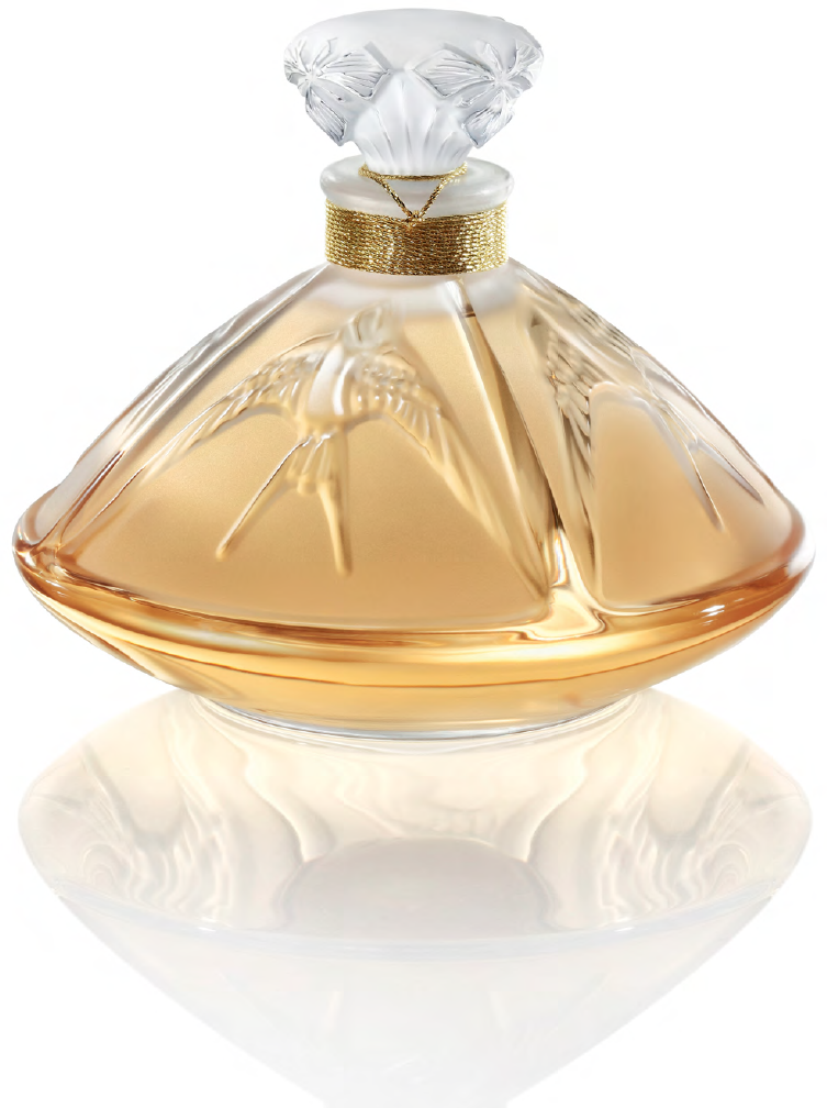 Lalique crystal bottle containing their Living Lalique fragrance