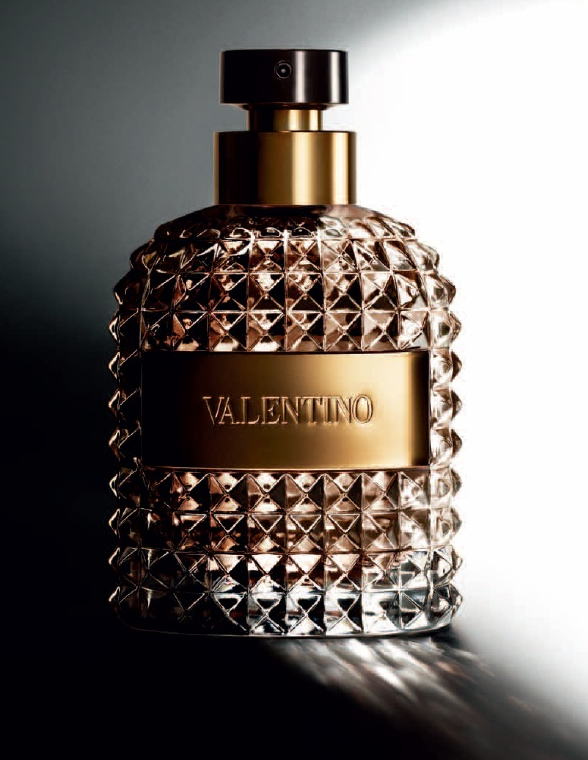 bottle of valentino uomo men's perfume