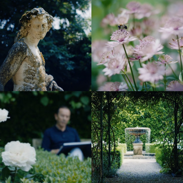 Clive Christian in the gardens which inspired his Noble VII collection of perfumes