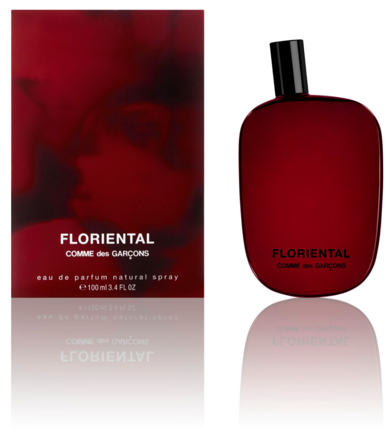 bottle and box for comme des garsons floriental perfume