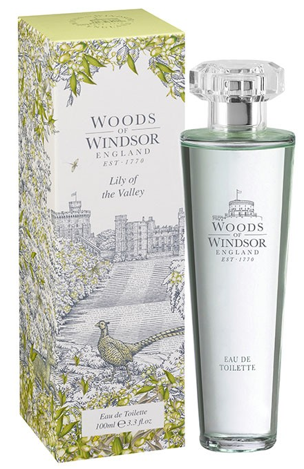 Woods of Windsor Lily of the Valley bottle with illustrated box