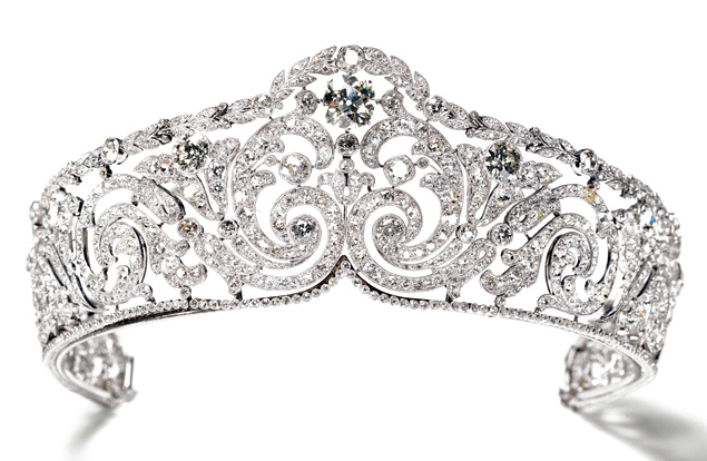 The Queen of the Belgians' garland-style tiara