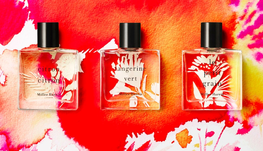 'Signature Miller Harris fragrances, blooming in watercolour for summer'