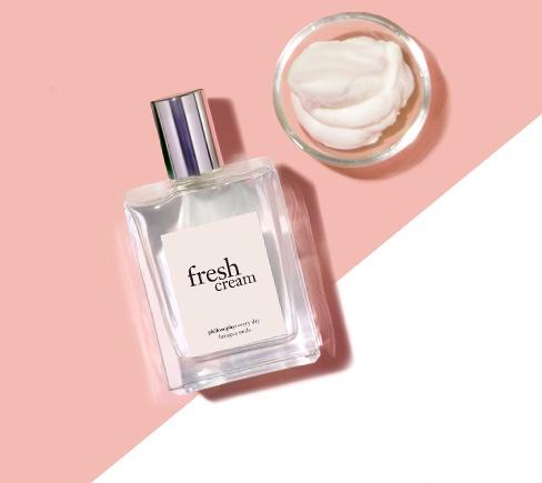 bottle of Philosophy Fresh Cream perfume