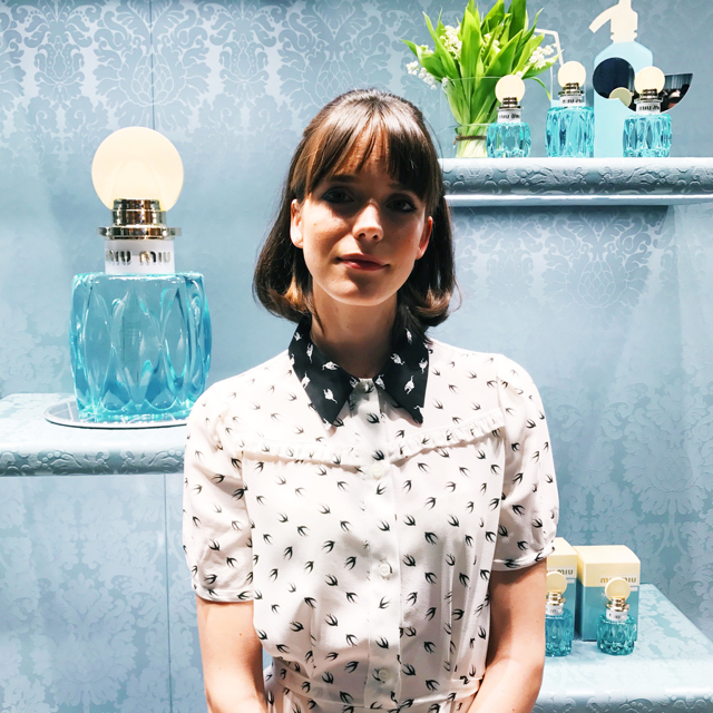 To celebrate the launch of Miu Miu L'Eau Bleue, its 'face' Stacy Martin shares her five favourite smells