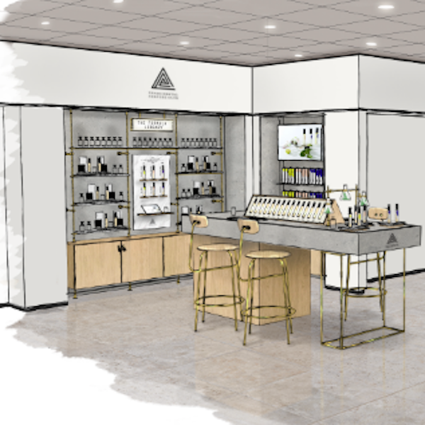 Experimental Perfume Club's bespoke fragrance space at Selfridges