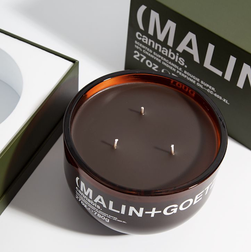 'A new candle to covet: MALIN + GOETZ Cannabis Supercandle'