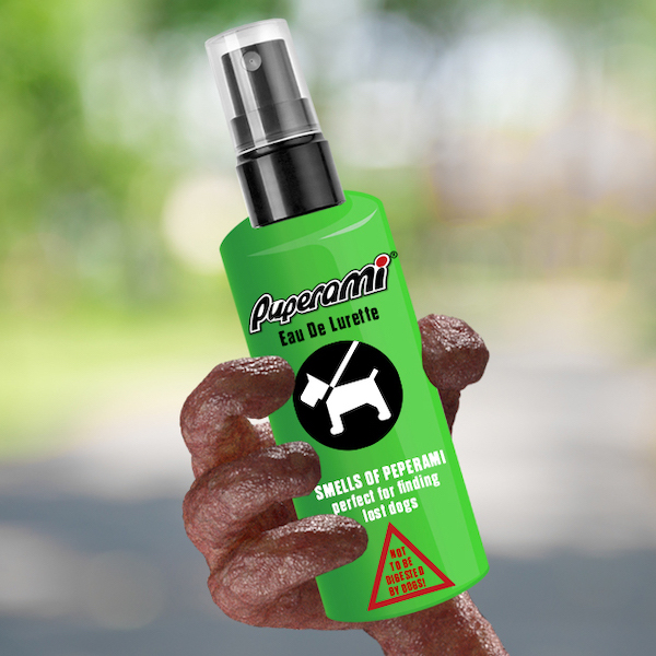 'We'll meat again… Puperami: the meat-scented spray luring back lost dogs'