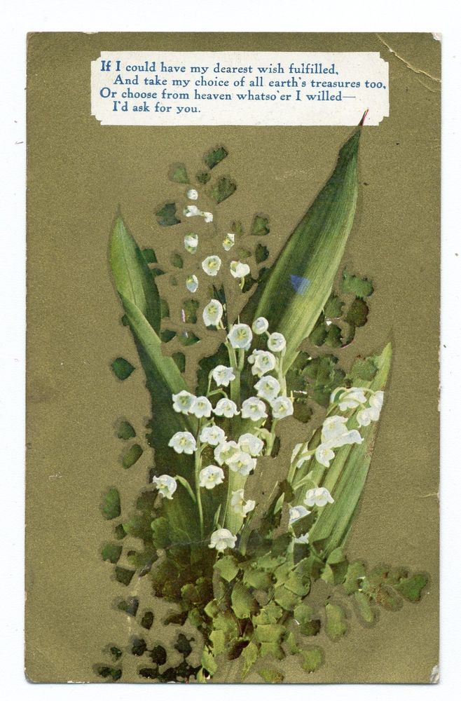 lily of the valley Victorian card
