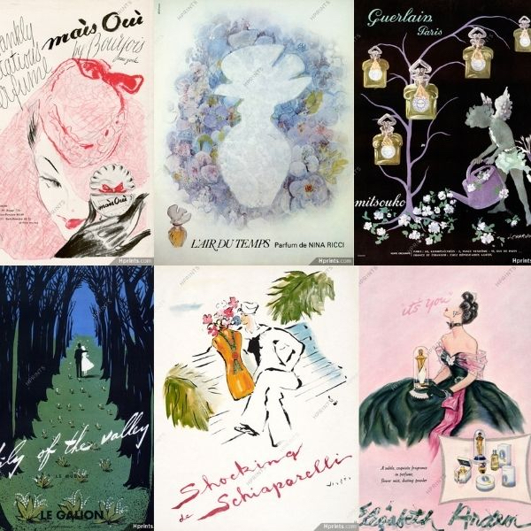 Vintage perfume posters (to purchase & swoon over…)