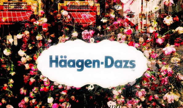 Häagen-Dazs limited edition floral-themed ice creams at Liberty London (well we HAD to try them, for research, didn't we…?)
